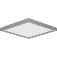 "Canarm LED-SM8DL-BN-C - LED Disk, LED-SM8DL-BN-C, 8"" Painted Pewter Color Square Trim, 18W Dimmable, 3000K, 1000 Lumen,"
