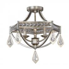 Uttermost 22275 - Uttermost Tamworth Modern 3 Light Semi Flush
