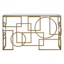 Uttermost 24708 - Uttermost Metria Gold Console Table