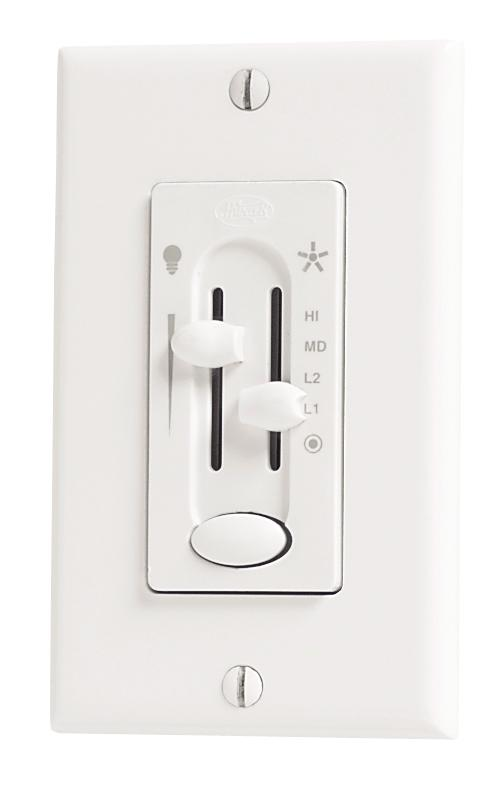 Fan/Light Dual Slide Wall Control with Preset
